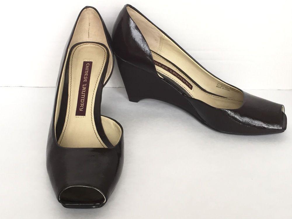 05352b7cb0ef Chinese Laundry Black Women s Peep Toe Wedge Heel Pumps Shoes Size US 6 M   ChineseLaundry  OpenToe  WeartoWork