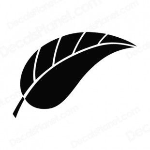 Leaf silhouette plants decals, decal sticker #15329