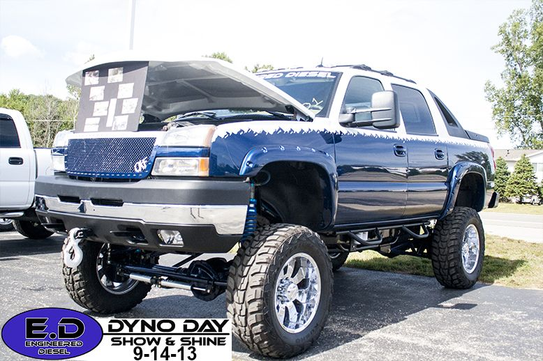 Avalanche with a Duramax Diesel engine in it at Engineered Diesel