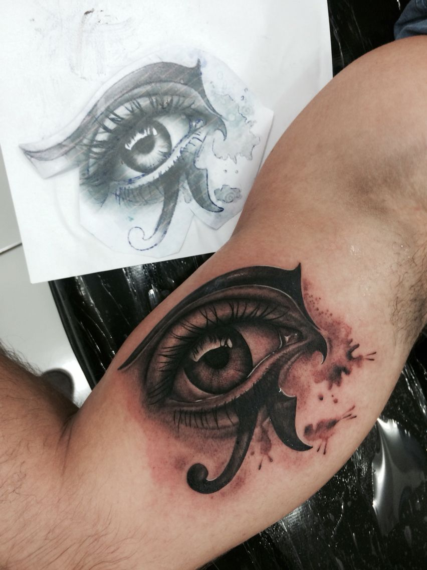 Eye horus tattoo pinterest - Tatouage oeil d horus ...