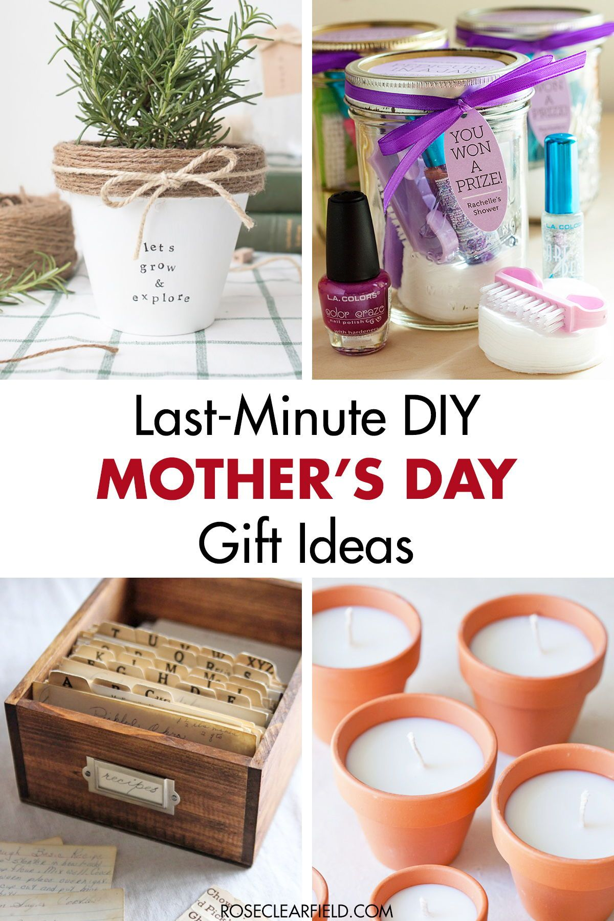 Lastminute diy mothers day gift ideas diy mothers day