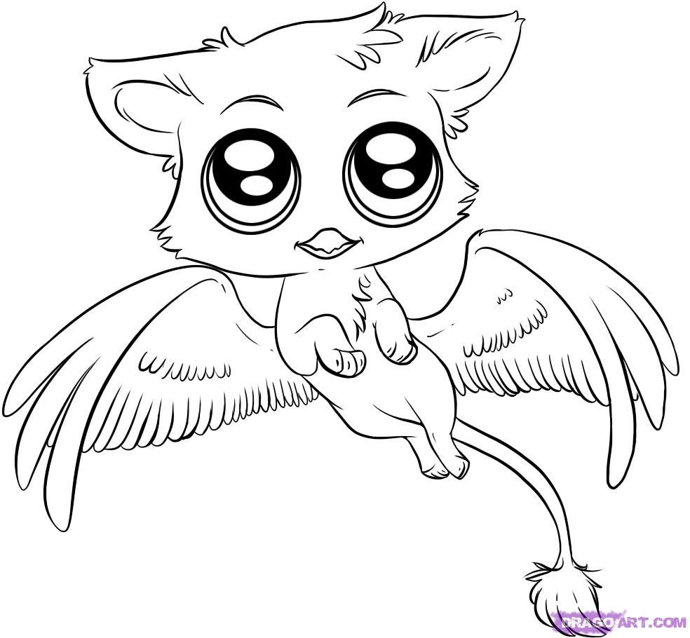 Coloring pages cute animals - Dragoart Coloring Pages Cute Animals