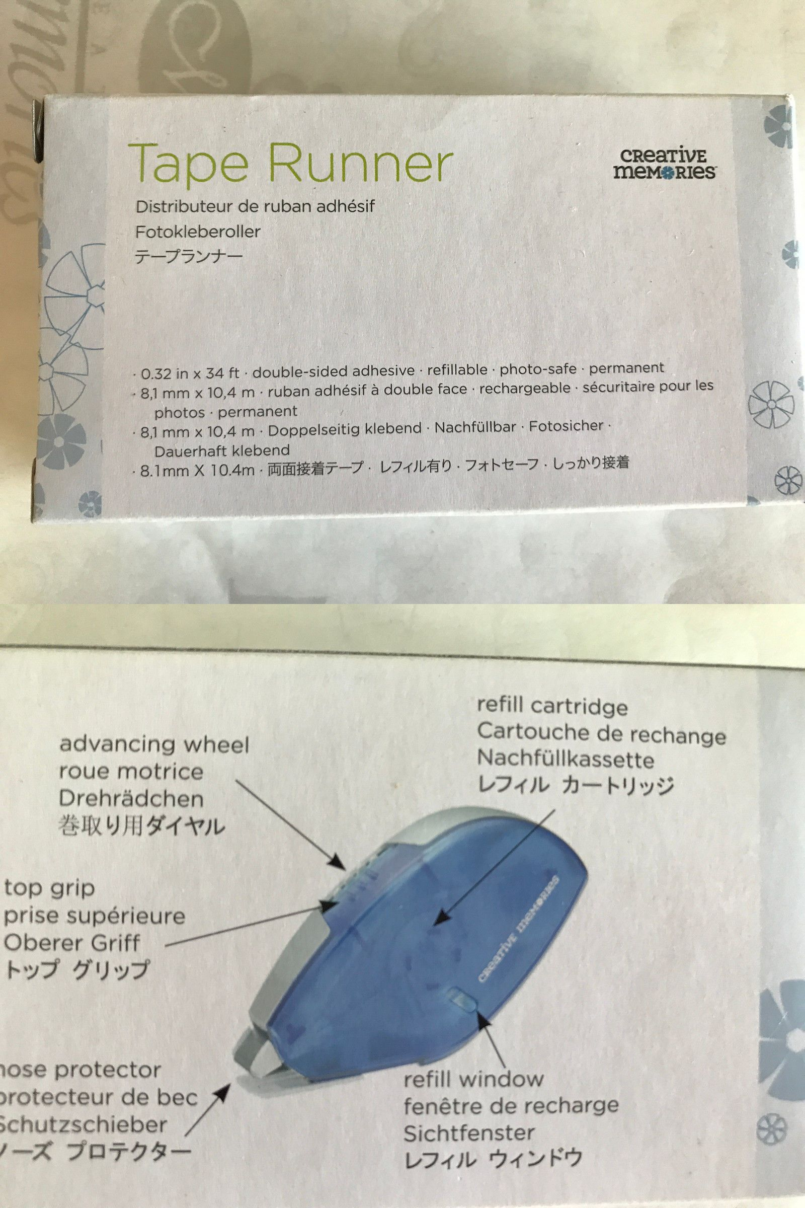 Tape Runner with Dispenser Creative Memories