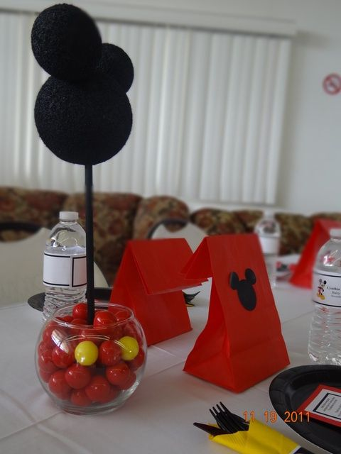 Lovely Mickey Mouse Themed Baby Shower Centerpiece Or A Cute Disney Disney Baby  Shower Themes 480x640