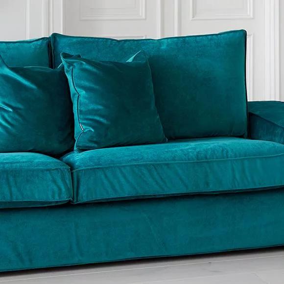 Ektorp 2er Sofabezug Mit Recamiere Mit Paspeln Bemz Sofa Covers Ektorp Sofa Cover Blue Velvet Sofa