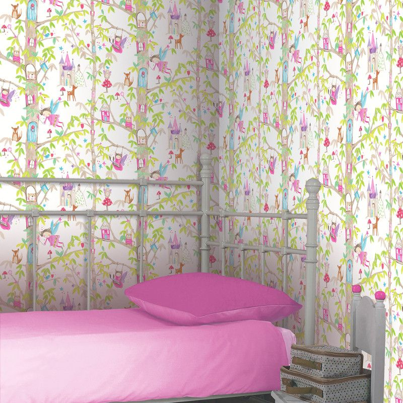 Arthouse Woodland Fairies Wallpaper