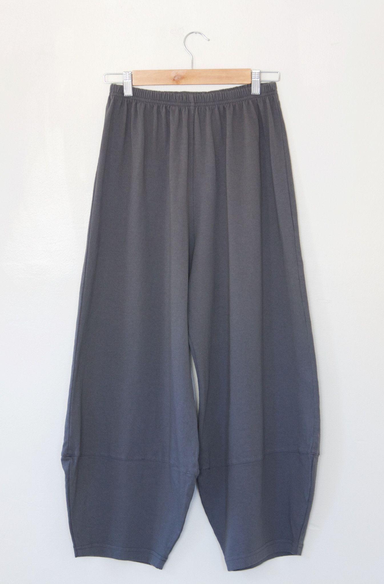 Dark grey loosefit 100 cotton lounge pant by