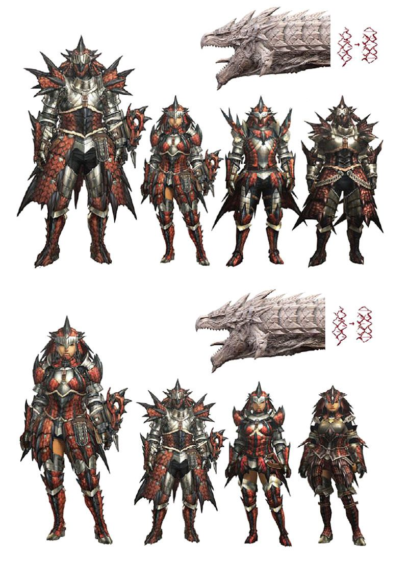 Rathalos Armor Artwork From Monster Hunter World Art Artwork
