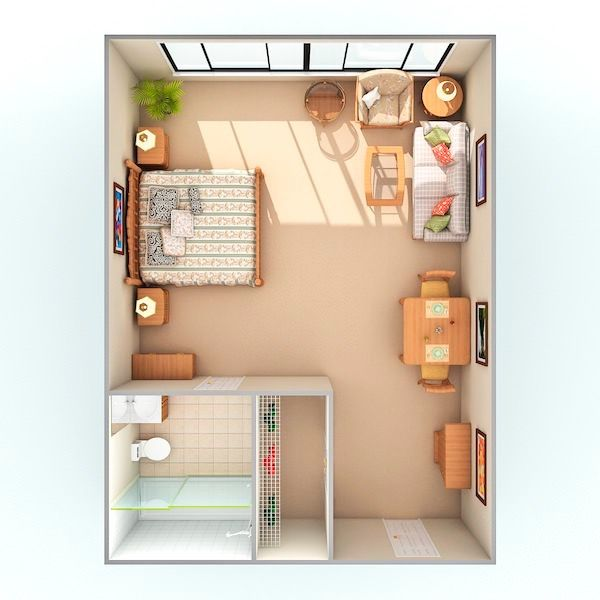 Assisted Living Unit Floor Plan