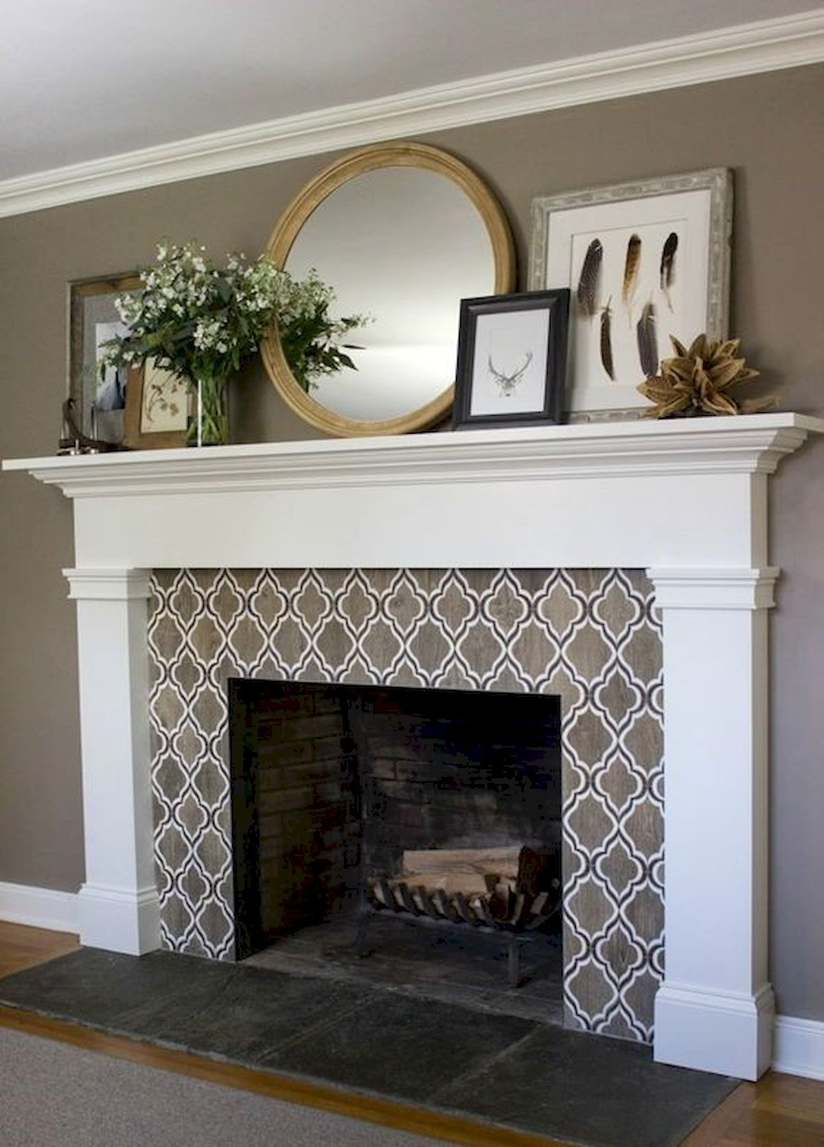 40 Best Modern Farmhouse Fireplace Mantel Decor Ideas