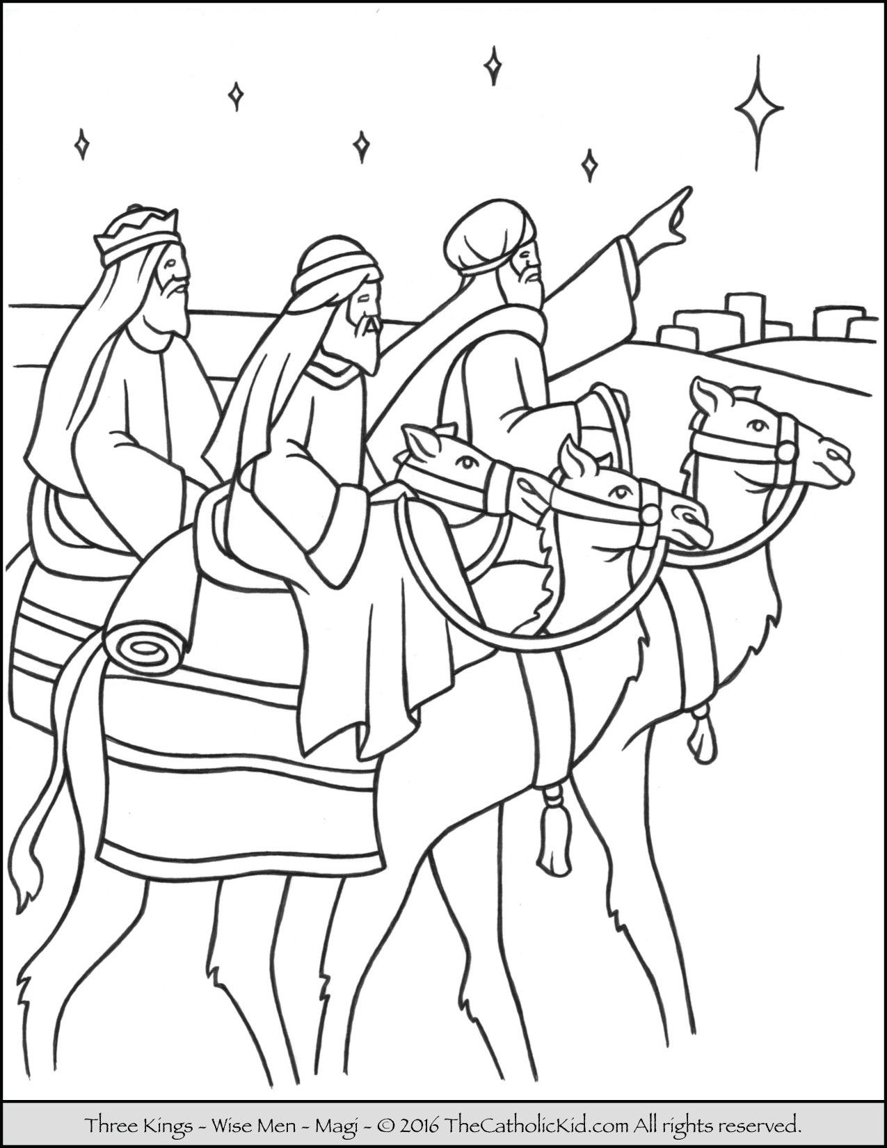 Timely Free Coloring Pages Of The Three Wise Men Special 29 Page