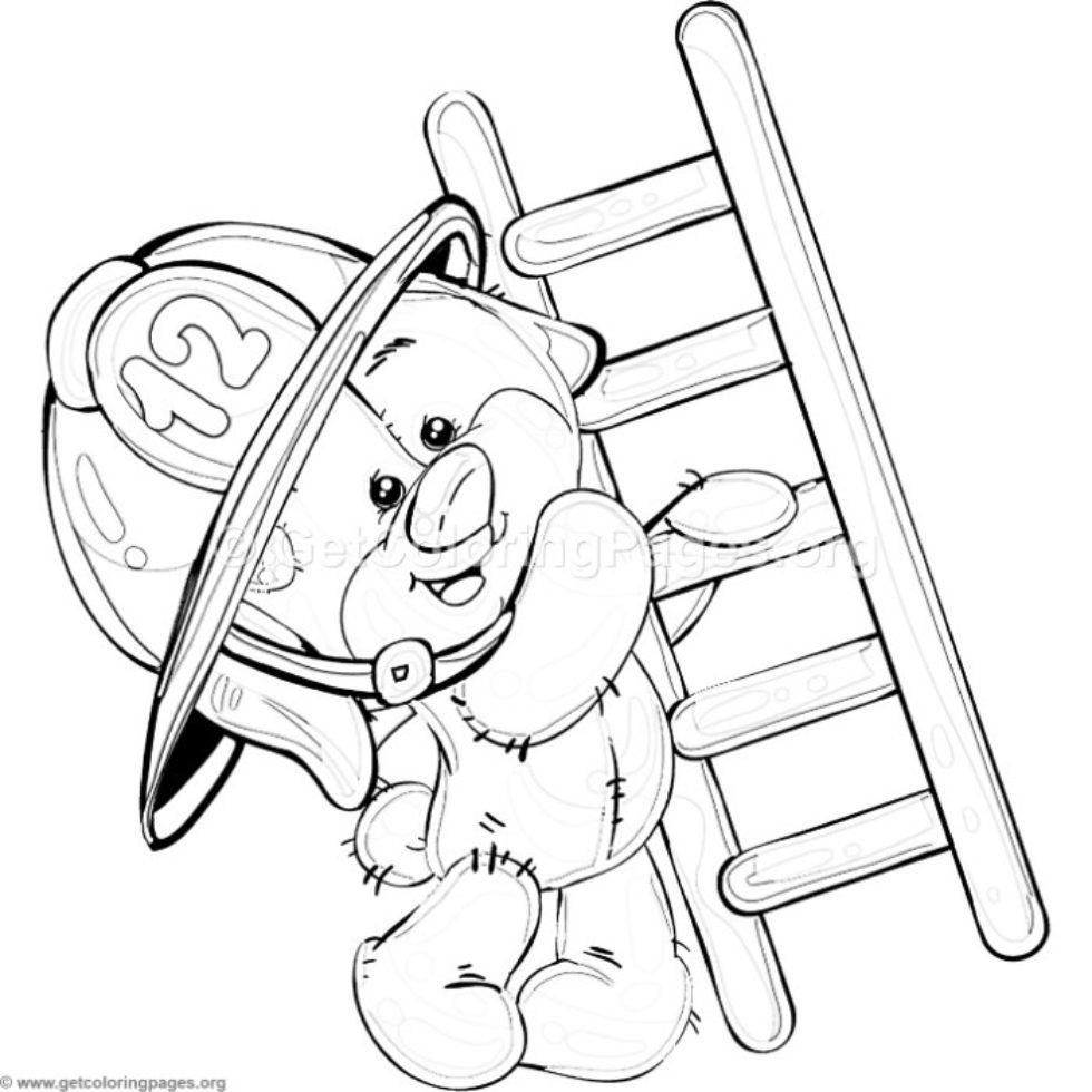7 Teddy Bear Firefighter Coloring Pages GetColoringPages
