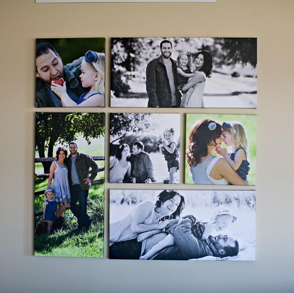 Foto galer as montajes deco fotos pinterest montajes - Cuadros con fotos familiares ...