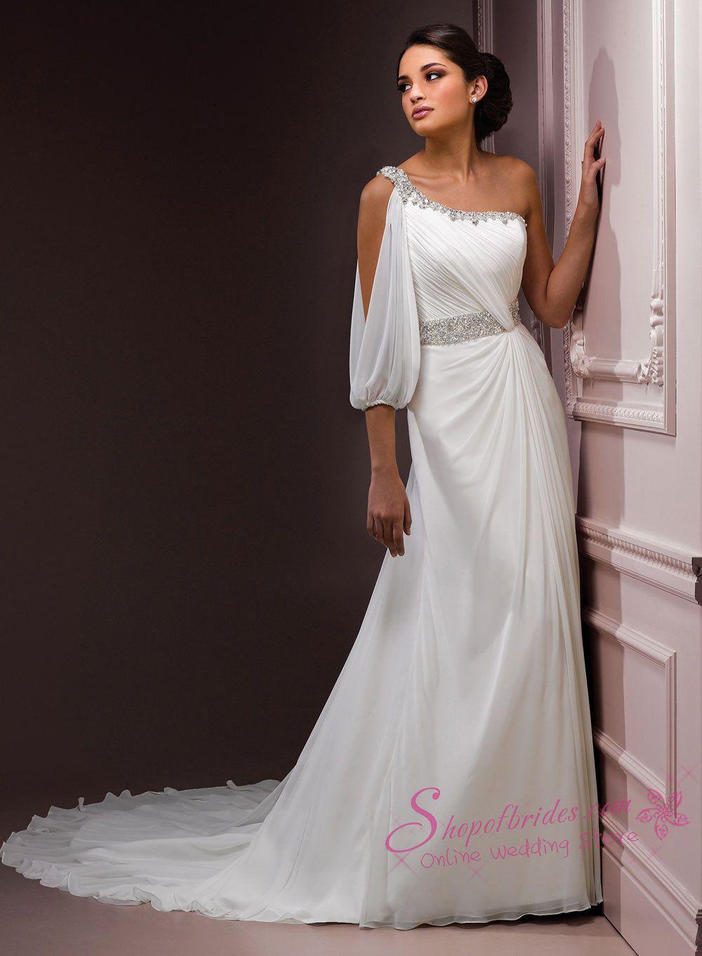 Awesome One Shoulder Wedding Dresses