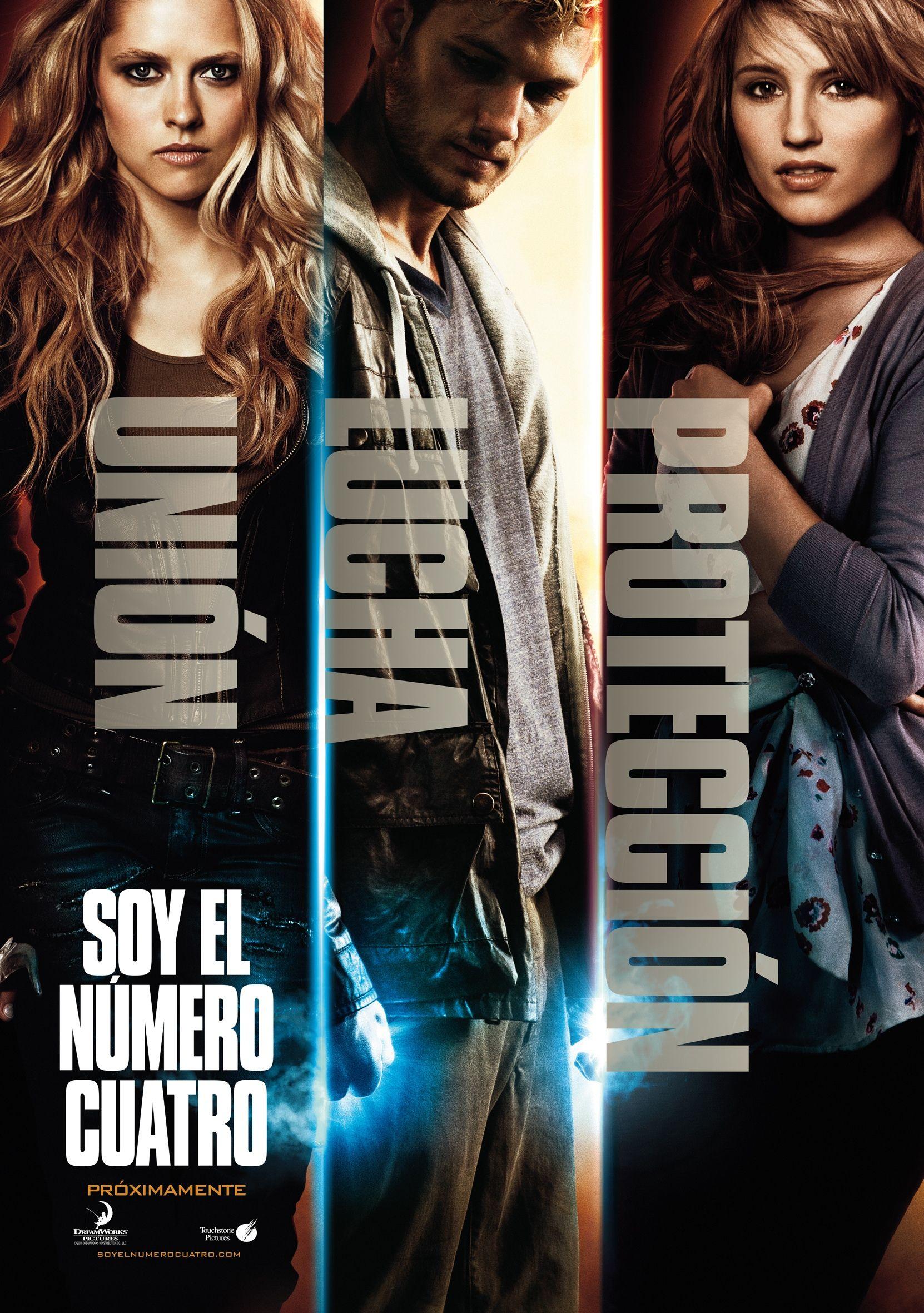 Cartel Español de Soy el número cuatro