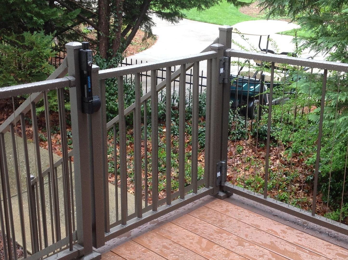 Tuscany Adjustable Gate By Westbury Aluminum Railing Deck