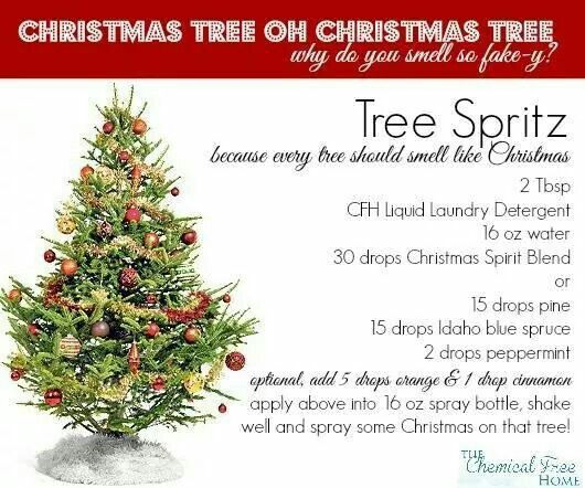 Christmas Tree Spritz Christmas Tree Essential Oils Christmas Tree