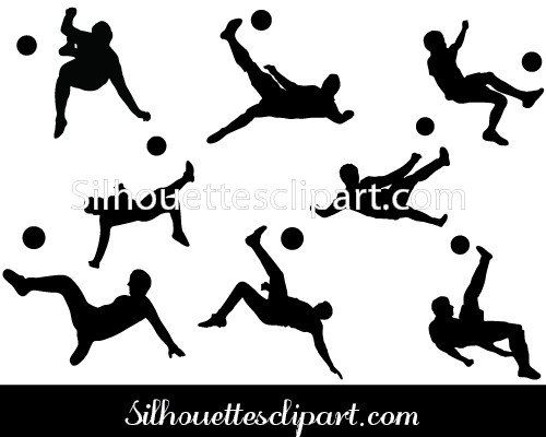 Bicycle Kick Silhouette Vector Silhouette Vector Bicycle Kick