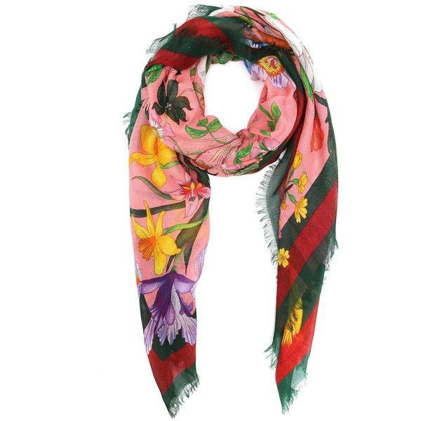 Flora snake print shawl - Multicolour Gucci 5QolbGnyi5