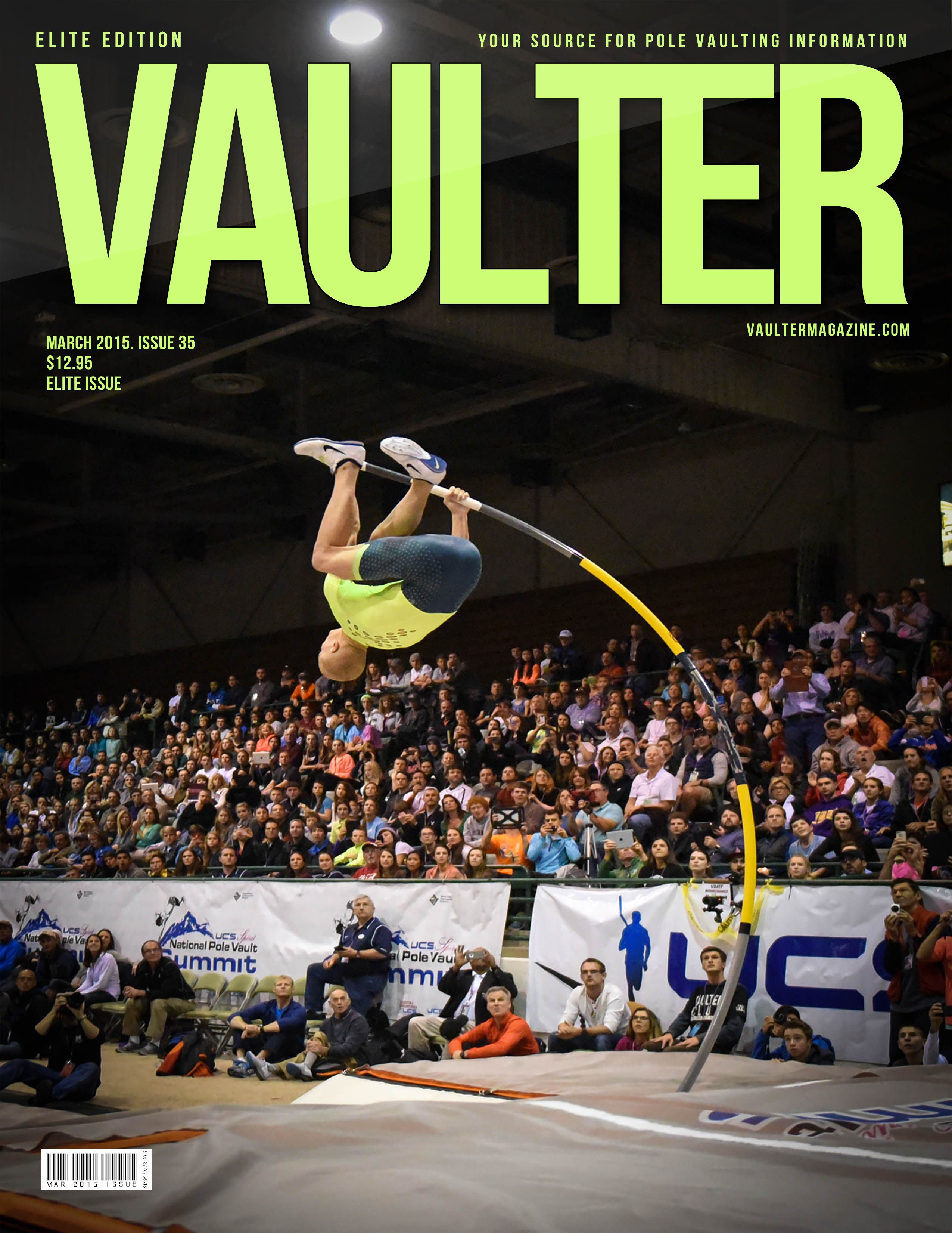 March 2015 Sam Kendricks Magazine On Sale Now Pole Vault Track And Field Vaulting