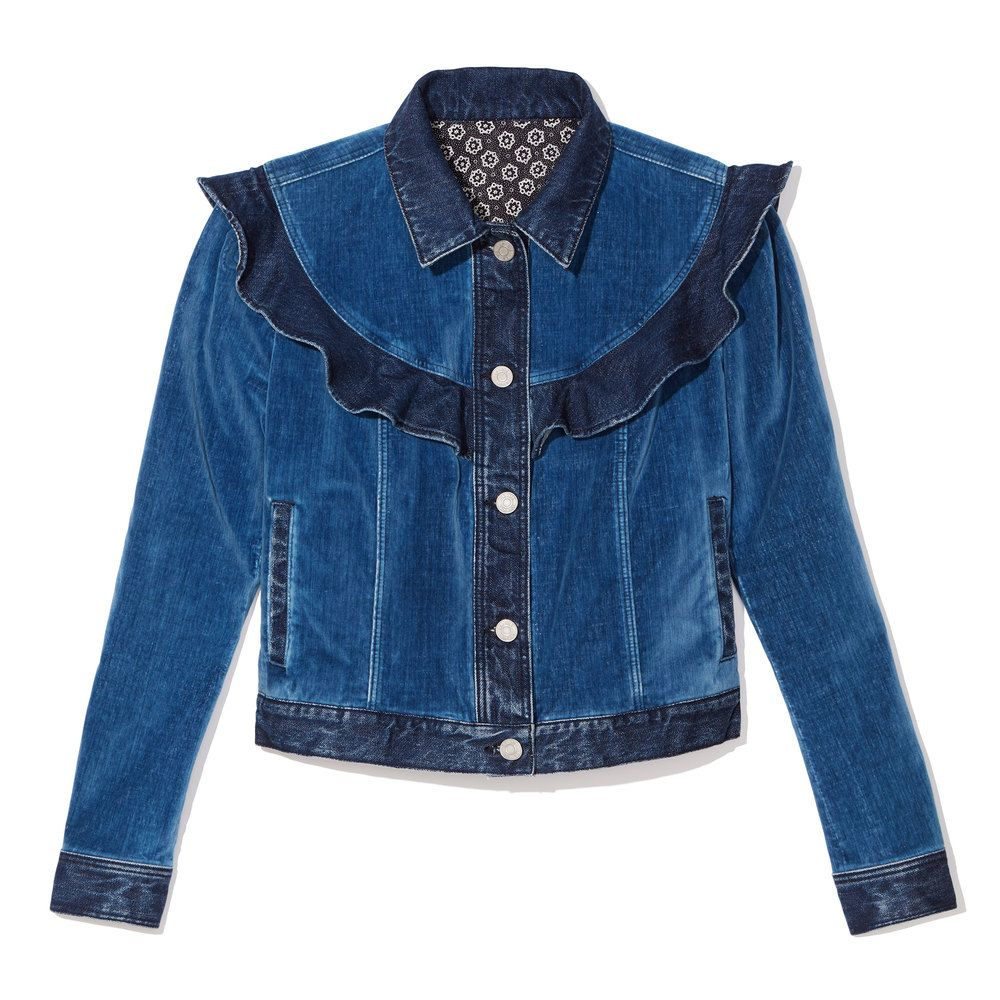 A Luxe Upgrade To A Classic Jean Jacket This Iteration Is Rendered In Rich Royal Blue Velour That Keeps Things Modern And Fresh P Denim Jacket Jackets Denim [ 1000 x 1000 Pixel ]