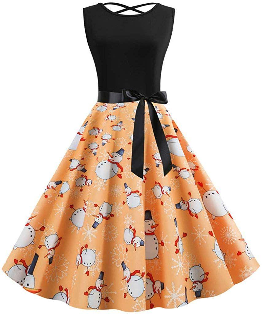Kauneus sleeveless cross backless vintage evening party dress bowknot belt christmas cocktail dress #backlesscocktaildress