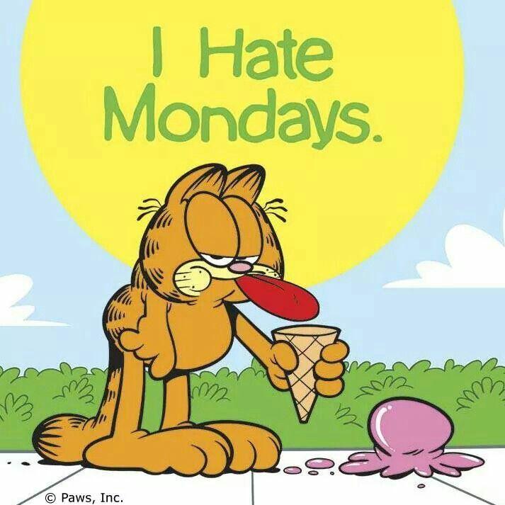 I hate Mondays, Garfield, funny cats, ice cream | Garfield ...  I