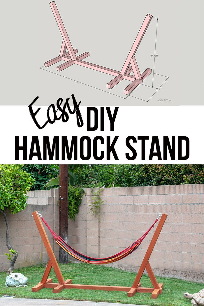 How to build a hammock stand - The easy way!!