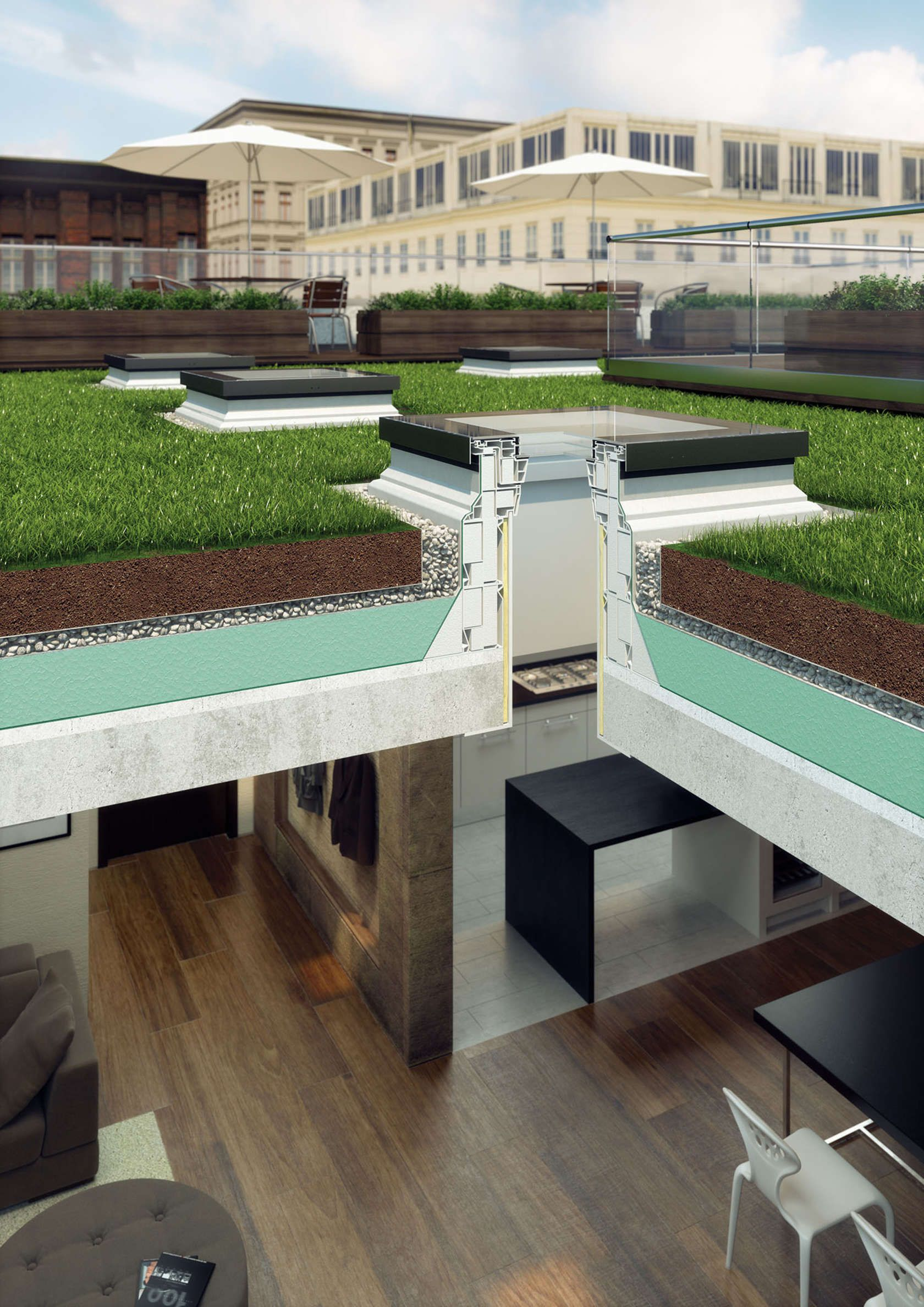 Fakro flat roof window typef floating spaces lawns pinterest