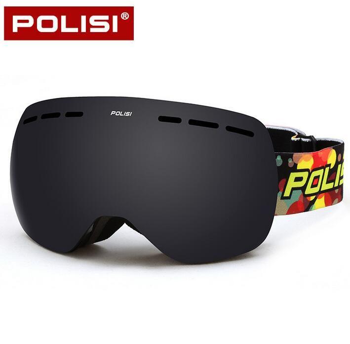 be0a31691491 POLISI Ski Snow Goggles UV Protection Anti-Fog Winter Skiing Eyewear Men  Women Double Layer Gray Lens Snowboard Skate Glasses  Affiliate