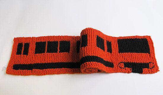 subway scarf via Little Helsinki