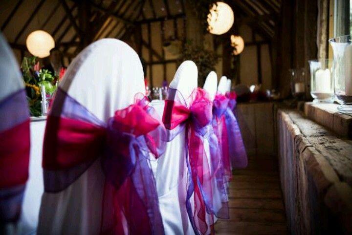 Chair decor...   Fiesta   Pinterest   Wedding colour schemes, Purple ...