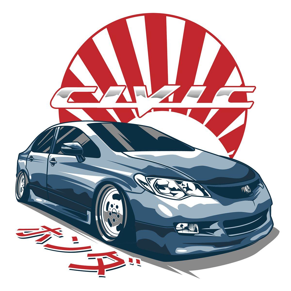 Honda Civic Fd On Behance Honda Civic Hatchback Honda Civic Jdm Honda [ 1200 x 1200 Pixel ]