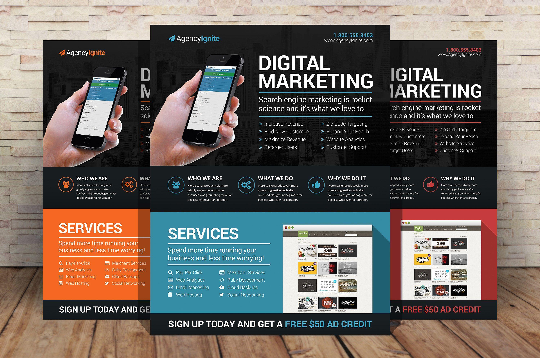 Digital Marketing Flyer Psd By Creativenauts On