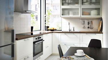 Amazing utiliser du blanc dans une cuisine exigu lui donne for Decorer ma cuisine