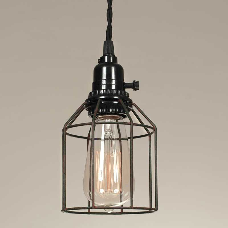 Wire Cage Pendant Light Green Rust Wire Pendant Light Cage Pendant Light Pendant Light Fixtures