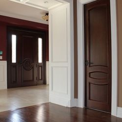 Interior Doors Project   Custom Solid Clear Alder Interior Doors