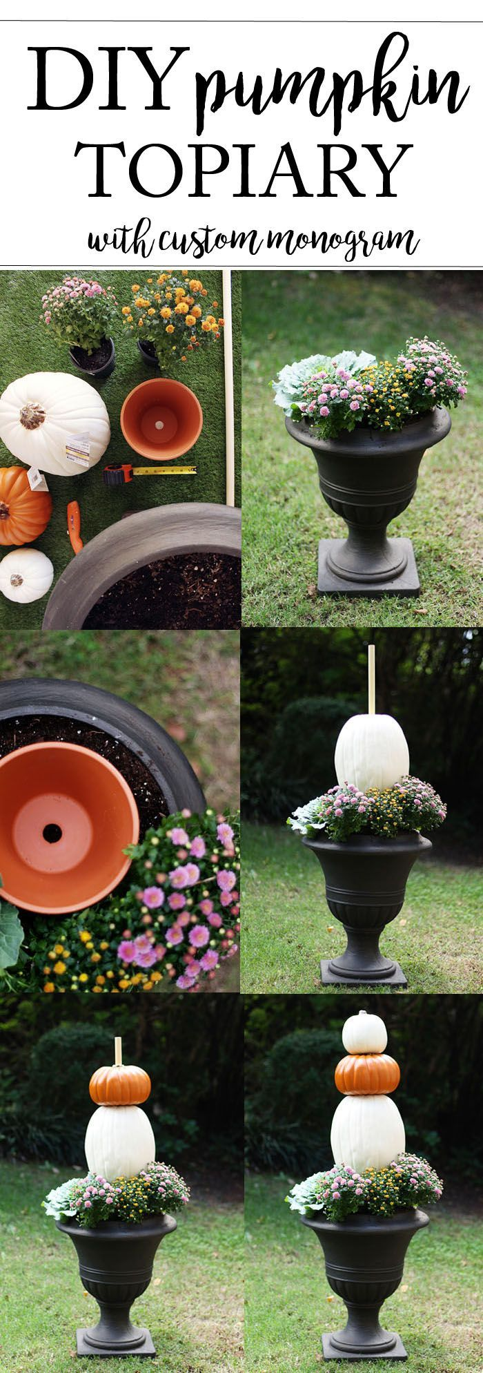 Wonderful Pumpkin Topiary Ideas Part - 14: DIY Pumpkin Topiary For A Fun Fall Project