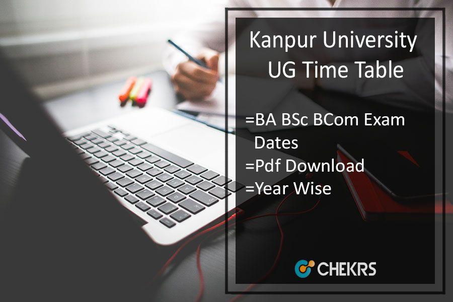Kanpur University Exam Scheme 2019- CSJM BA BSC BCOM Time