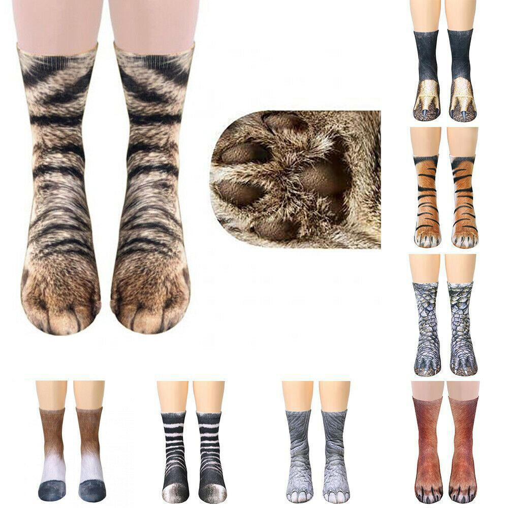 Soft Animals Paw Crew Socks Cotton Funny Sock Adults//Kids Men Women Boys Girls