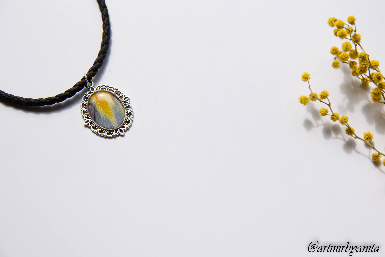 Pansies Pressed Flowe Jewelry Set Real Flower Pendant Terrarium