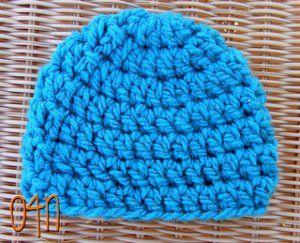 Basic Chunky Newborn Beanie Crochet Baby Hats Free