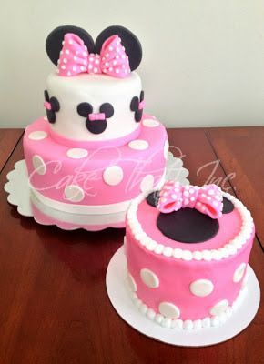 Minnie Mouse Birthday Cake and Smash Cake Minnie Mouse Party