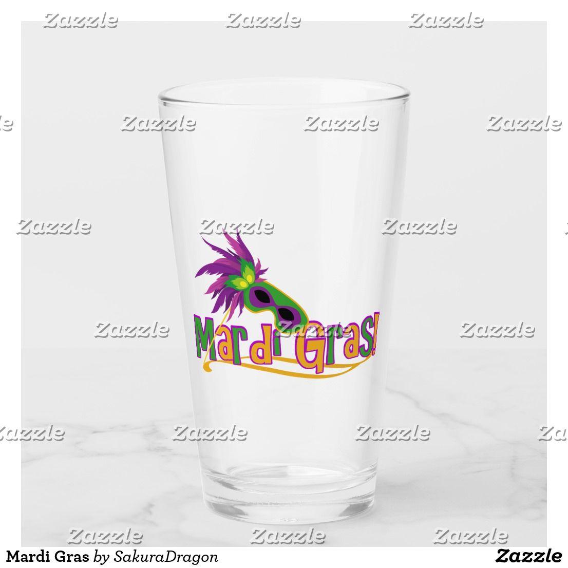 Mardi Gras Glass