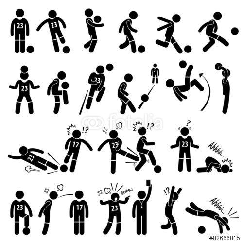 Football Soccer Player Footballer Actions Poses Cliparts Stockfotos Und Lizenzfreie Vektoren Auf Fotolia Com Bild 8266681 Gratis Bilder Bilder Vektorgrafik