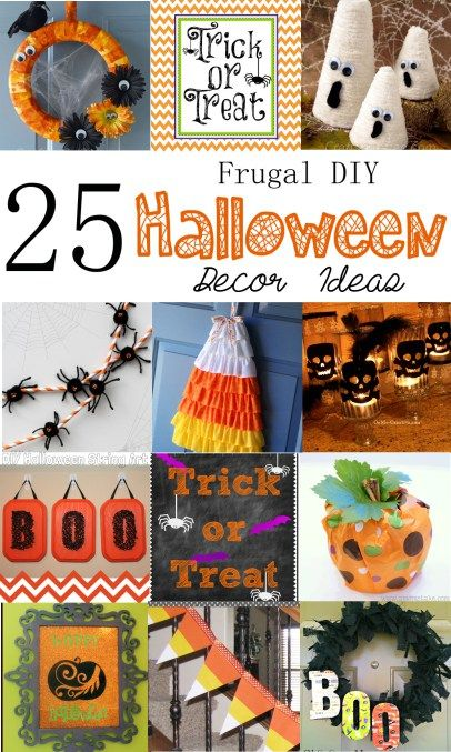 25 Cheap Halloween Decorations DIY Halloween, Budgeting and Decoration - how to make decorations for halloween