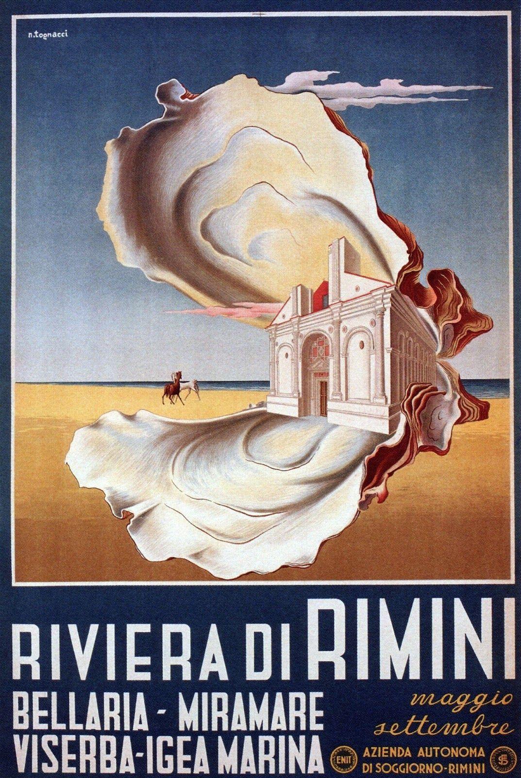 1950 Riviera di Rimini by Nazzareno Tognacci | Travel Posters ...