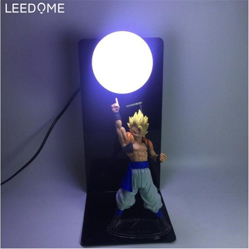 Leedome Dragon Ball Z Son Goku Genki Damaspirit Bomb Table Lamp Luminaria Led Night Light Room Deco Night Light Led Night Light Light Decorations
