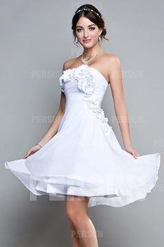 Robe de mariee blanche courte