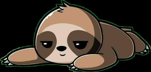 Https Picsart Com I Sticker Freetoedit Cute Kawaii Lazy Sloth Animal Couch Sleep 273091493027211 Sloth Cartoon Cute Cartoon Drawings Sloth